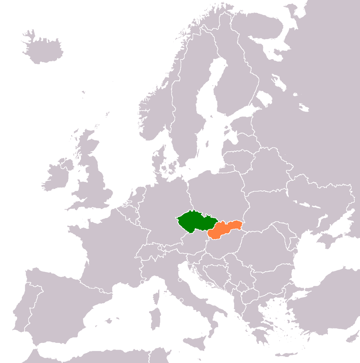 Czech Republic Slovakia Relations Wikipedia