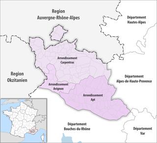 Arrondissements of the Vaucluse department