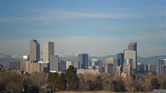 Denver Skyline frae City Park, Denver