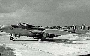 De Havilland Venom - A Venom NF.3. Note the clear view canopy and revised tail surfaces of this mark.