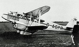 Railway Air Services - Railway Air Services DH.89 Dragon Rapide G-ACPR at Manchester (Ringway) Airport in 1938