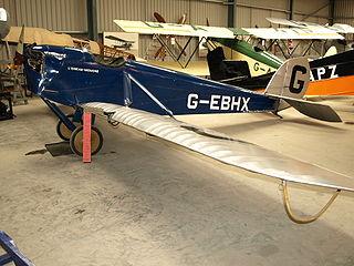 de Havilland Humming Bird light sport and training aircraft built by de Havilland Aircraft Company in the 1920s