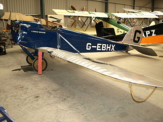 De Havilland Humming Bird - DH.53, G-EBHX, at the Shuttleworth Collection