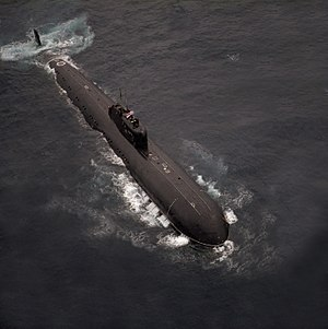 Charlie-class submarine - INS Chakra leased to the Indian Navy