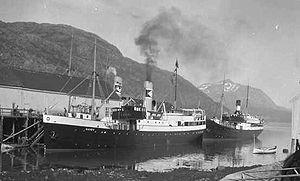 SS Barøy (1929) - Image: DS Baroey i Loedingen