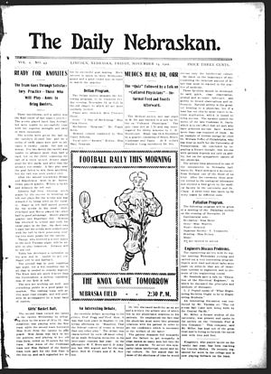The Daily Nebraskan - Title page of the October 17, 1902 issue