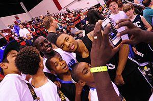 Damian Lillard - Lillard posing with fans.