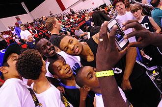 Damian Lillard - Lillard posing with fans in July 2012