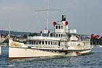 Dampfschiff Stadt Rapperswil - Bürkliplatz 2013-07-20 19-24-32 (P7700).JPG