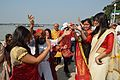 Dancing Devotees - Durga Idol Immersion Ceremony - Baja Kadamtala Ghat - Kolkata 2012-10-24 1323.JPG