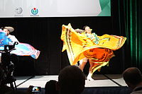 Dancing at the Wikimania 2015 Opening Ceremony IMG 7622.JPG