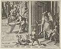 Daniël strooit as op de tempelvloer Geschiedenis van Daniël, Bel en de draak (serietitel), RP-P-1904-3463.jpg