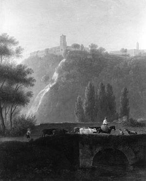 Daniël Dupré - Landscape, the Cascades of Tivoli by Daniël Dupré, Walters Art Museum