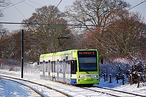 Lloyd Park tram stop - Image: Dashing Through the Snow geograph.org.uk 1624272