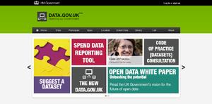 Data.gov.uk - Image: Data.gov.uk screenshot