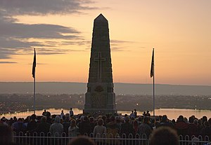 2009 ANZAC day Dawn Service, State war <span class=