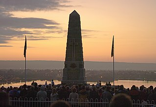 Dawn Service ANZAC Day 2009 at the State war memorial in Kings Park, Western Australia