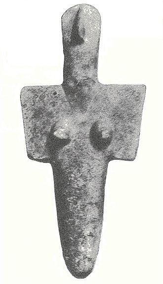 Ozieri culture - A statuette of the Mediterranean mother goddess, found at Senorbì.