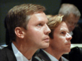 Dean Cannon and Mike Haridopolis are focused profiles as they listen to representatives from Congress discuss probable results of the census.png