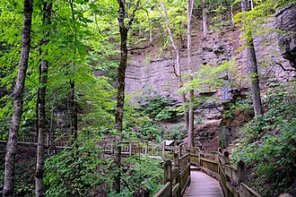 National Register of Historic Places listings in Barry County, Missouri - Image: Deer Leap Trail