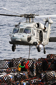 Defense.gov News Photo 110714-N-IC111-108 - U.S. Navy sailors assigned to the fast combat support ship USNS Bridge T-AOE 10 attach pallets of cargo to an MH-60S Seahawk helicopter assigned.jpg