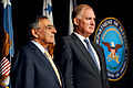 Defense.gov News Photo 111013-D-WQ296-165 - Secretary of Defense Leon E. Panetta left stands with former Deputy Secretary of Defense William J. Lynn III as the citation is read for Lynn s.jpg