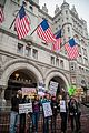 Demonstrators in front of the Trump International Hotel in Washington, D.C. during the Women's March on Washington.jpg