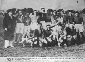 Asociación Deportiva Francesa - The rugby union team in 1937.