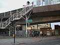 Deptford Bridge DLR station northern entrance.JPG
