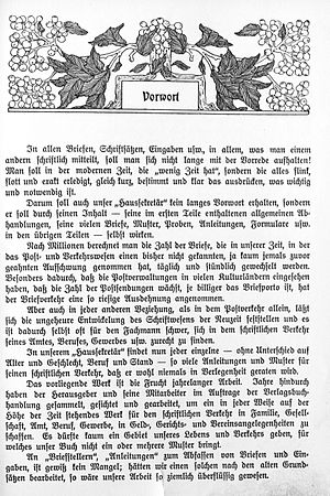 Foreword - Foreword, to a 1900 book in German