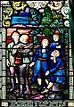 Derry Guildhall Tercentenary Window of The Honourable The Irish Society Detail Blue-coat boys sent from London to be apprenticed in Derry 1615 A.D. 2019 08 29.jpg