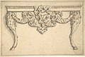Design for a table with a cat mask and goat legs MET DP804857.jpg