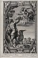 Diana (Artemis) and Pan. Etching by P. Aquila after Annibale Wellcome V0036051.jpg