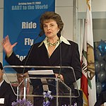 Dianne Feinstein at SFIA station opening, June 2003.jpg