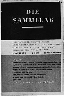 <i>Die Sammlung</i> periodical literature