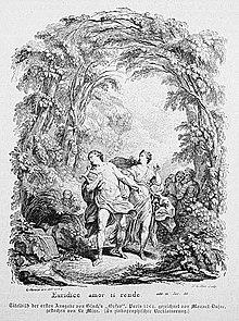 Titelvignette für Orfeo ed Euridice (Paris 1764) (Quelle: Wikimedia)