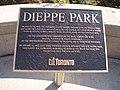 Dieppe Park Memorial Plaque photo by Djuradj Vujcic.jpg