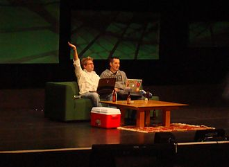 Diggnation - Diggnations live show in San Jose as part of NVISION 08.