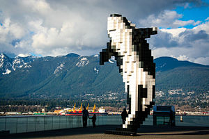 Douglas Coupland - An art sculpture by Douglas Coupland, located in Vancouver, British Columbia, Canada.