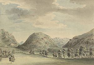 Dinas Emrys - Dinas Emrys, from Pennant's A tour in Wales, 1778