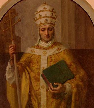 Pope Leo IX - Image: Dingsheim St Kilian Leo IX