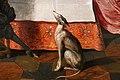 Dirck hals e dirck van delen, banchetto in un interno, 1628, 06 cane.jpg