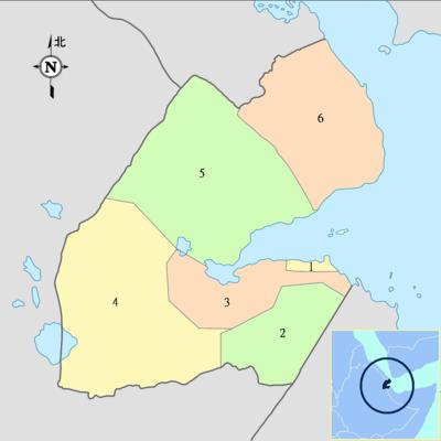 区划地�_吉布地行政区划图