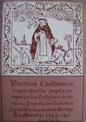 First book of the Spanish Philippines - Cover of the facsimile of the Tagalog version of the Doctrina Christiana.
