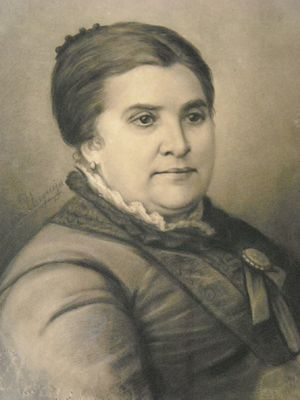 First Ladies and Gentlemen of Argentina - Portrait engraving of Dolores Costa