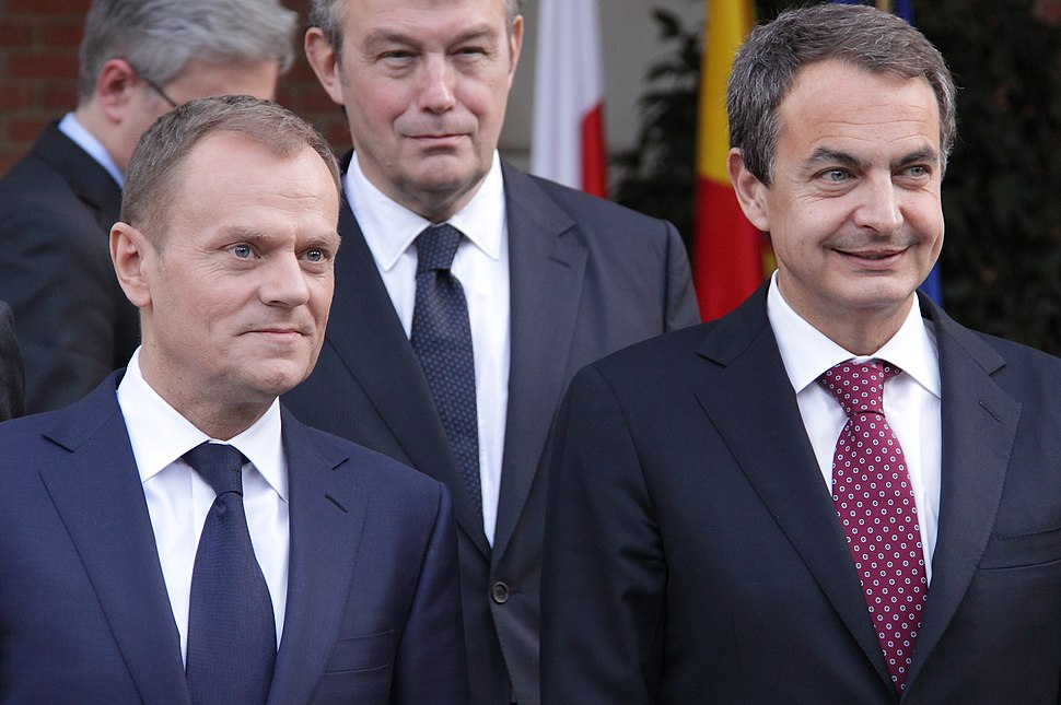 Donald Tusk with the Spanish Primer Minister Rodriguez Zapatero