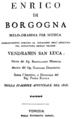 Donizetti - Enrico di Borgogna - title page of the libretto, Venice 1818.png