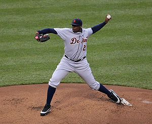 Dontrelle Willis - Willis throwing for the Tigers in 2009.
