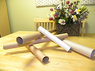 Cardboard - Tubes made of cardboard, which require high rigidity, but low printability
