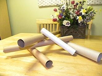 Cardboard - Tubes made of cardboard